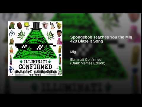 Spongebob Teaches You the Mlg 420 Blaze It Song online  cutter com