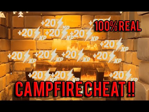 How To CHEAT THE TOASTY CAMPFIRE IN THE LODGE UNLIMITED XP! *100%REAL*