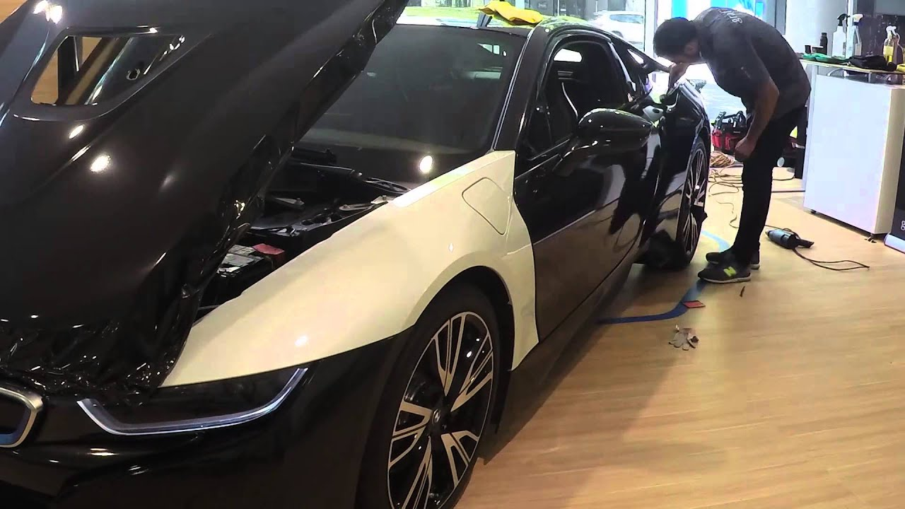 Bmw I8 Wrap Metallic Black Youtube