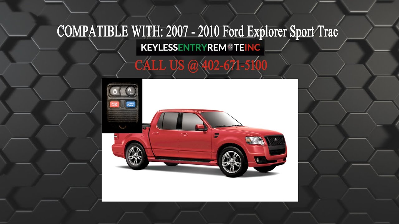 How To Replace Ford Explorer Sport Trac Key Fob Battery 2007 2010