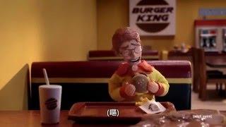 爆笑超智障漢堡廣告拍攝!  吃飯時請勿觀看!!  |機器雞| (中文翻譯)1080P thumbnail
