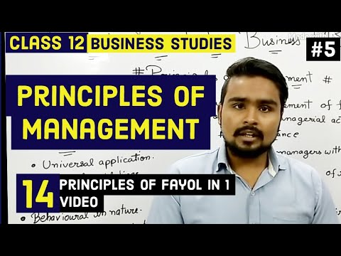 Class 12 business studies (fayol principles of management)mind your own business video 5