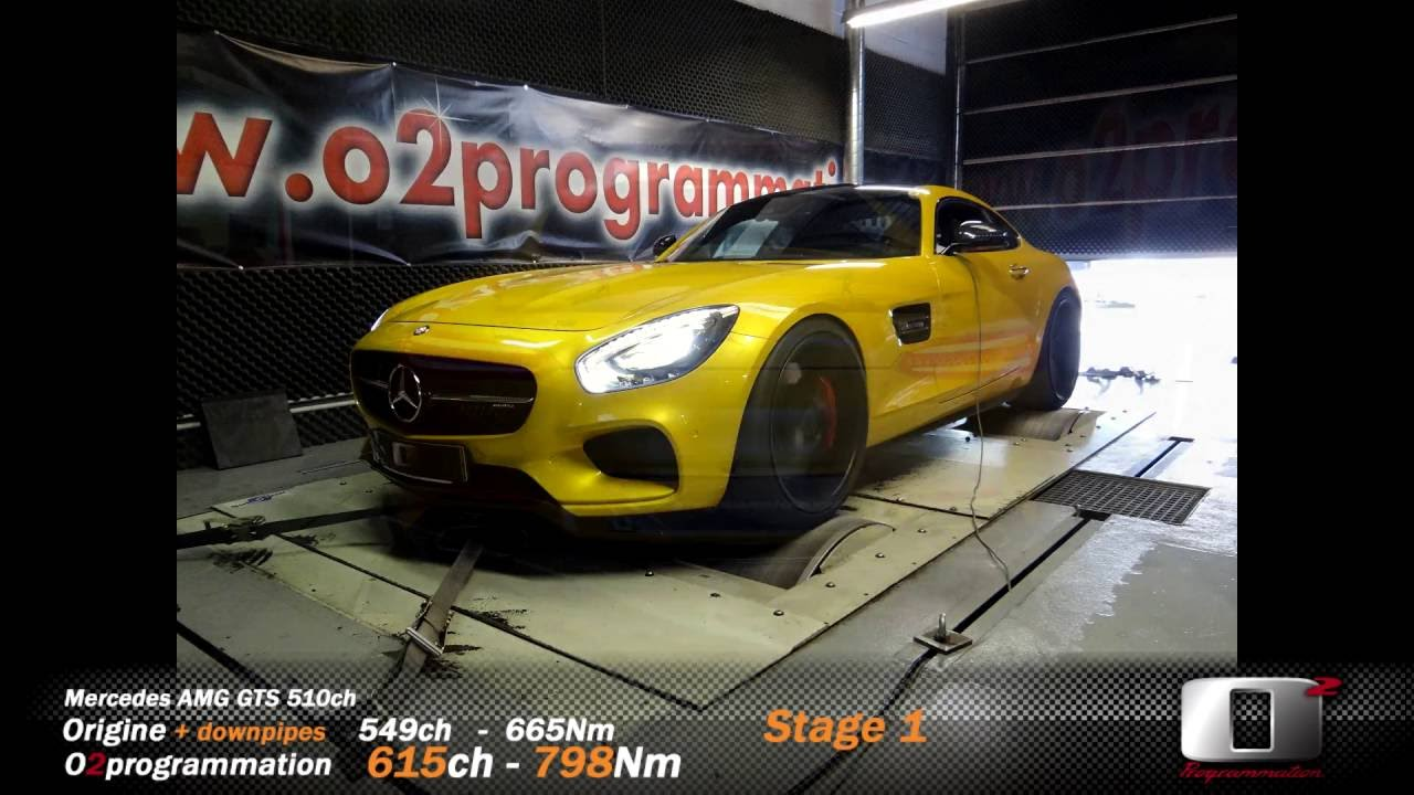 reprogrammation stage 2 mercedes amg gts o2programmation sur banc youtube. Black Bedroom Furniture Sets. Home Design Ideas