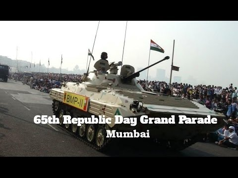 Republic Day Grand Parade Marine Drive Mumbai India 26th Jan