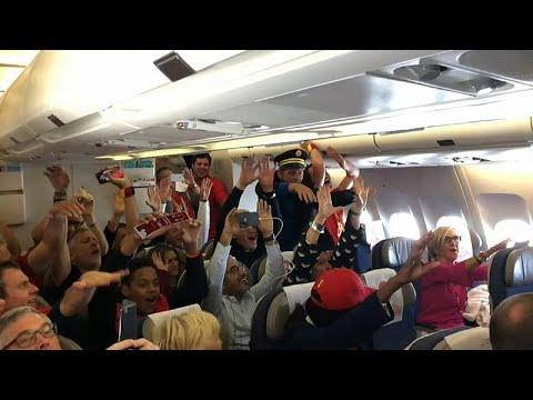 Festa belga no voo para São Petersburgo