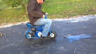 Mini bike burnouts