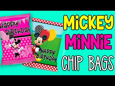 FREE MICKEY & MINNIE CHIP BAGS | HOW TO ASSEMBLE AND PUT TOGETHER