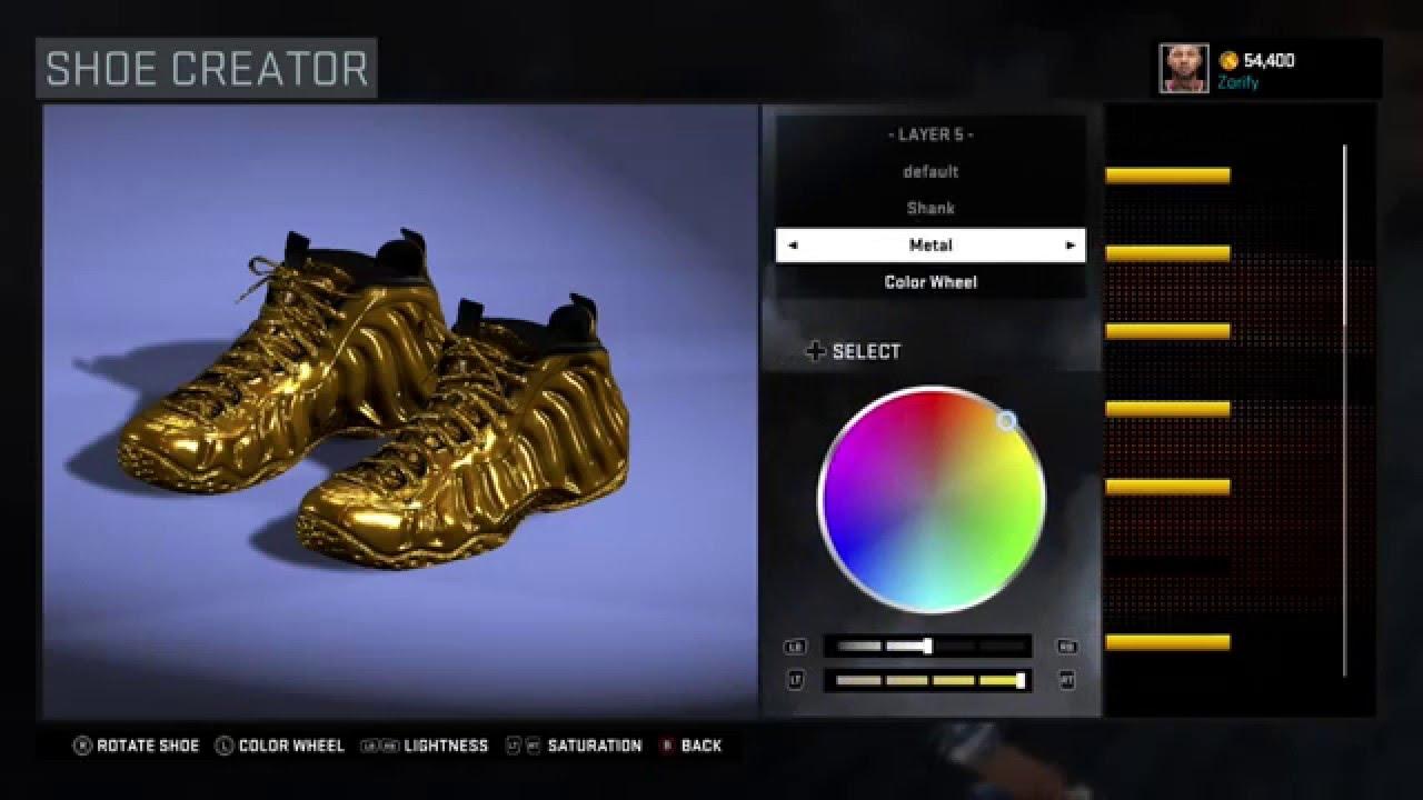 94e6461db1f NBA 2K16 Shoe Creator - Nike Foamposite One Custom