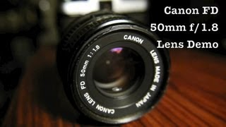 Canon 50mm f/1.8 Prime Lens in FD Mount For DSLR Via Adapters or 35mm SLR Film Cameras For Cheap