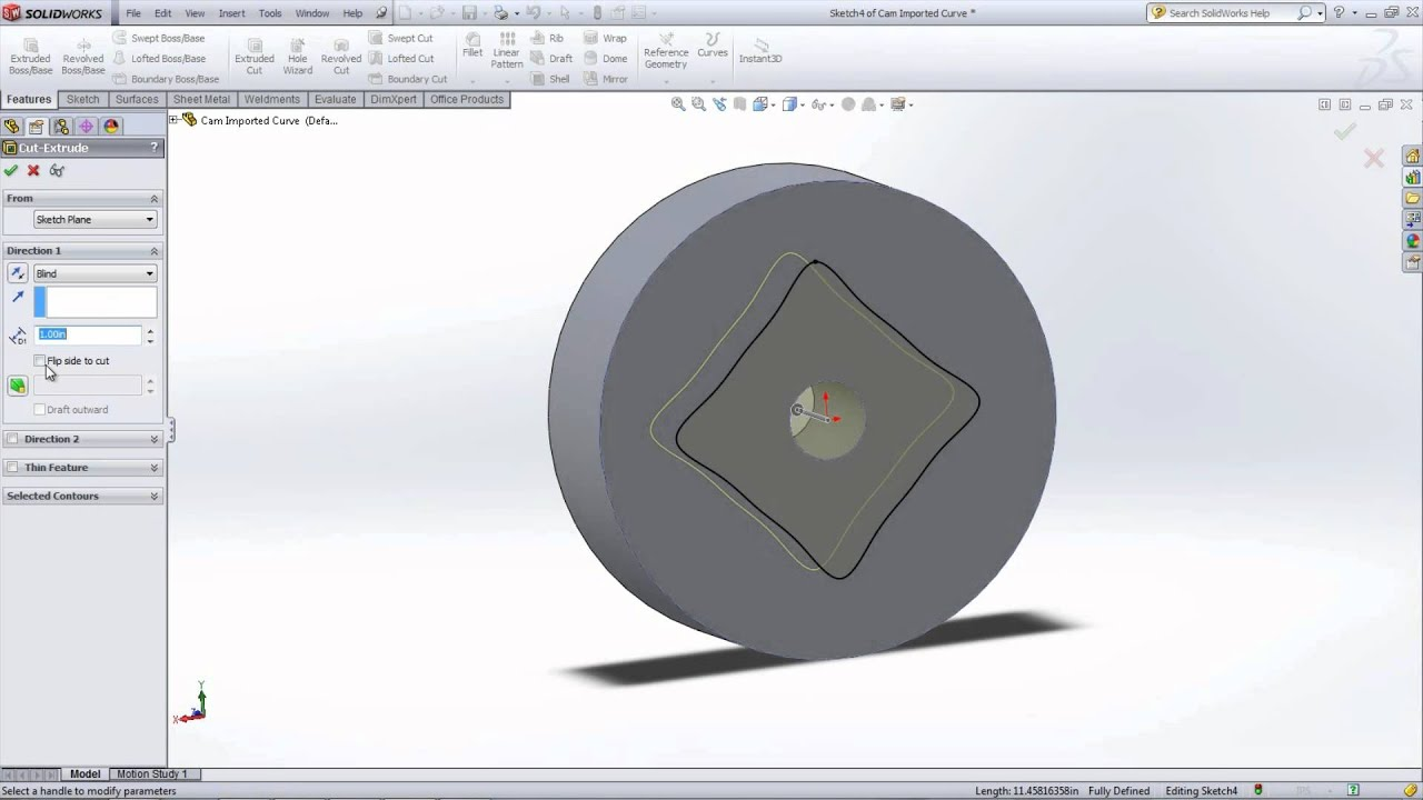 Cam Design Help Tutorial Using SolidWorks - YouTube