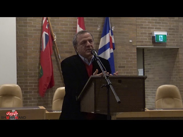 گزارش شهروند از سخنرانی ایرج مصداقی در تورنتو- گزارشگر بهرنگ رهبری