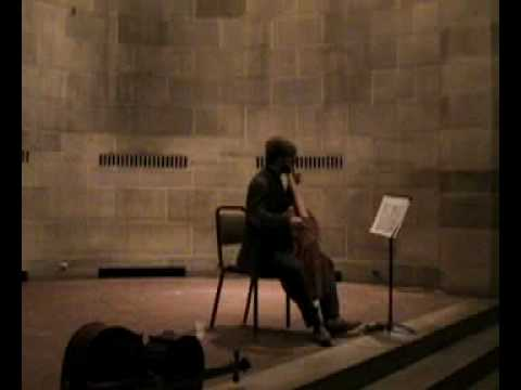 Telemann - Sonata in D Major (mvt. 1)  for unaccompanied viola da gamba - Steuart Pincombe
