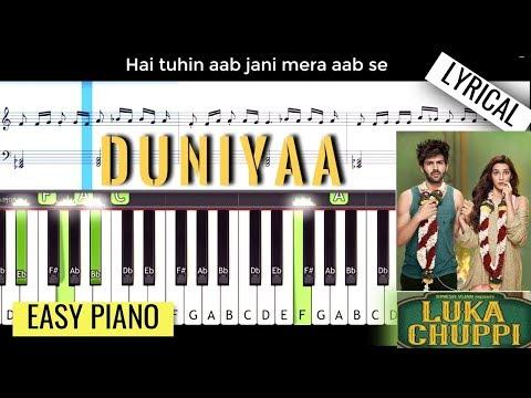 Duniyaa - Luka Chuppi   Piano Tutorial (With Lyrics)   Zest of Music thumbnail