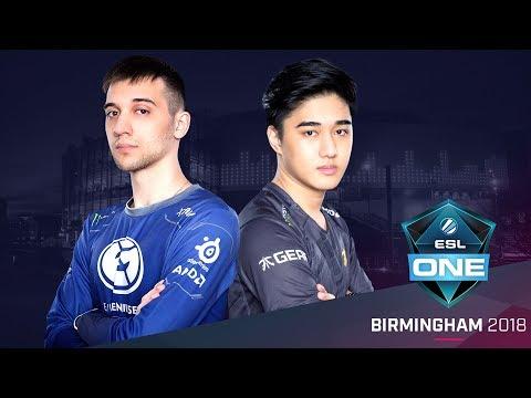 Dota 2 - Fnatic vs. EG - Group A Opening Match - ESL One Birmingham 2018 Day 1