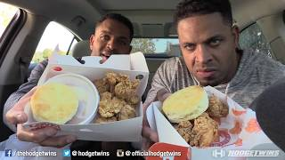 Eating Popeyes Smokehouse Boneless Wings @hodgetwins