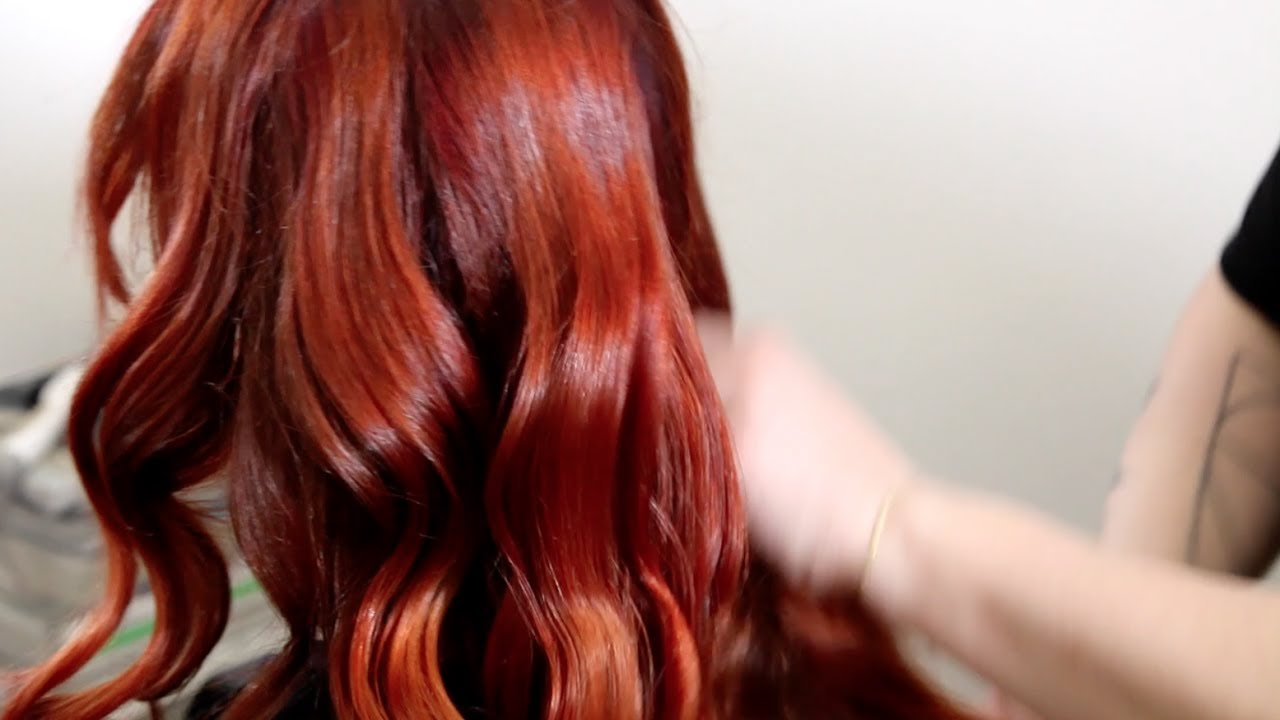 Orange Red Hair Color Tutorial Youtube
