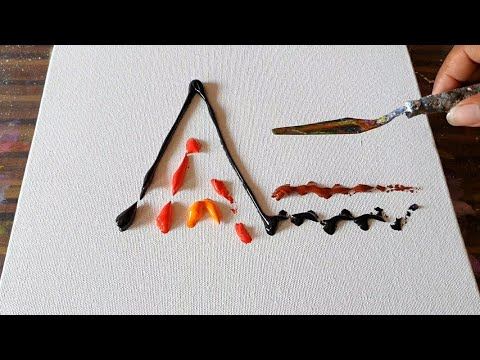 Acrylic Abstract Painting Demo / Texture / Satisfying / Daily Art Therapy / Day #0190