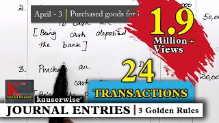 Journal Entry for [24 Transactions] Simple explanations :-by kauserwise thumbnail