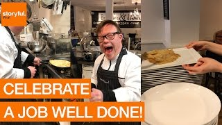 Chef With Down Syndrome Lands Pancake Flip (Storyful, Inspiring)