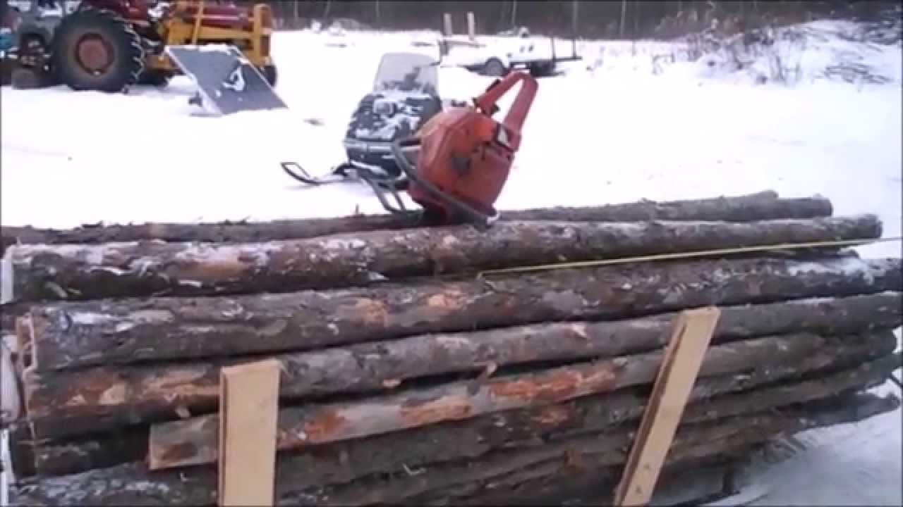 Snowmobile Pulls A Super Load Youtube
