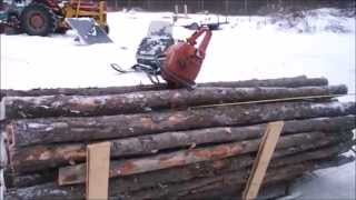 Snowmobile Pulls A Super Load