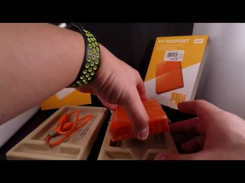 Western Digital My Passport 4TB portable hard drive unboxing and overview