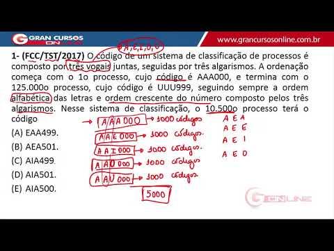 Correção da Prova TST / FCC Técnico | Raciocínio Lógico Matemático com o Prof. Luis Telles