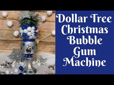 Dollar Tree Christmas Crafts: Dollar Tree Glam Christmas Bubble Gum/ Gumball Machine