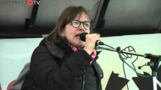 Demo gegen NATO Sicherheitskonferenz München 2016: Heike Hänsel, MdB - DIE LINKE