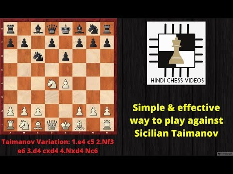 Simple & effective Chess Opening strategy against Sicilian Defense - Taimanov Variation