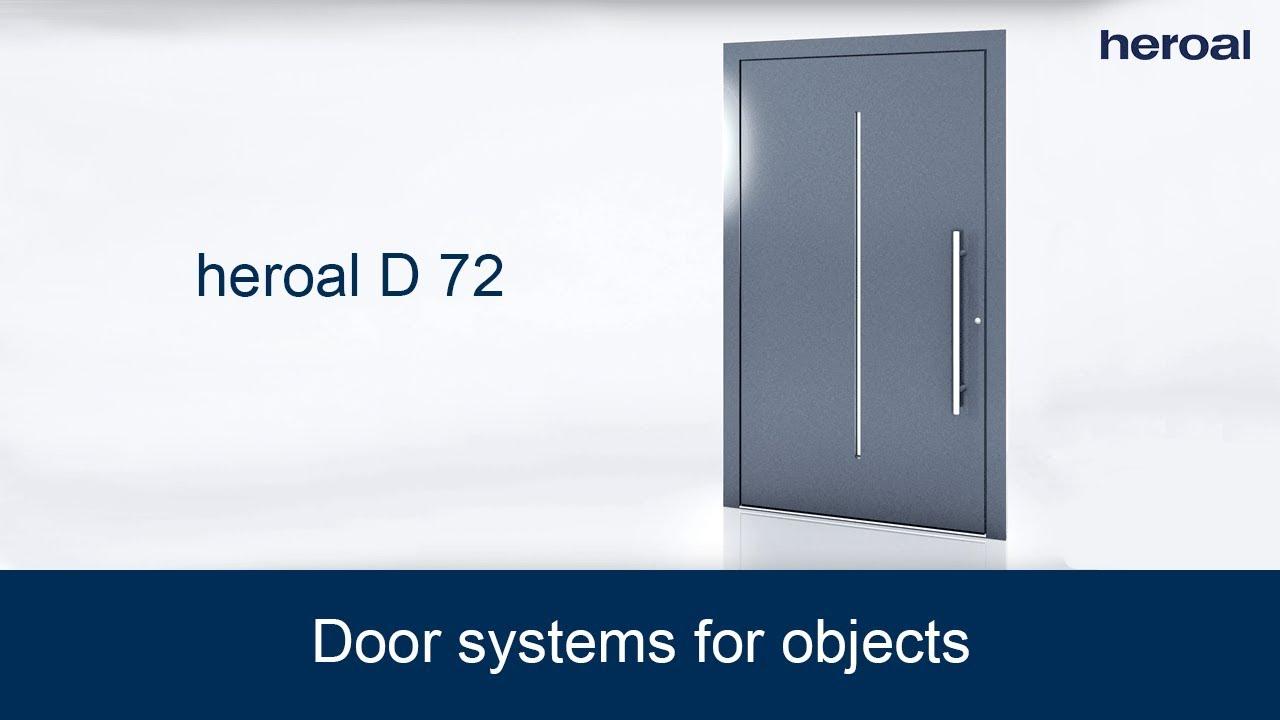 Door Systems For Objects | Heroal D 72 Commercial Door System
