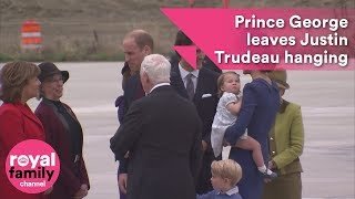 Prince George leaves Justin Trudeau hanging on Canada visit by : The Royal Family Channel
