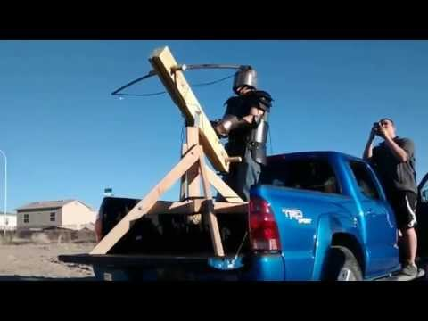 Turret Mounted Arbalest Test Fire (Giant Crossbow)