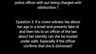 Canadian Charter Of Rights- Lying under Oath