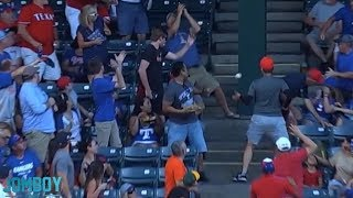 Shin-Soo Choo knocks a fan out with a home run, a breakdown