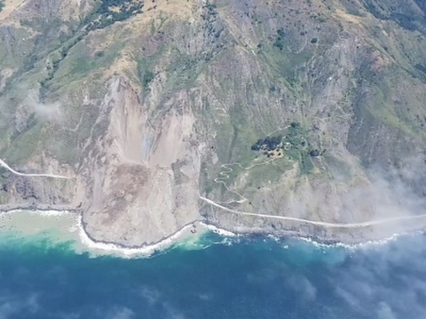 Raw: Mudslide Buries Stretch of Calif. Highway
