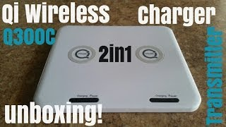 QI Wireless Charger 2in1 Samsung Nokia iPhone HTC LG - Q300C - Unboxing!