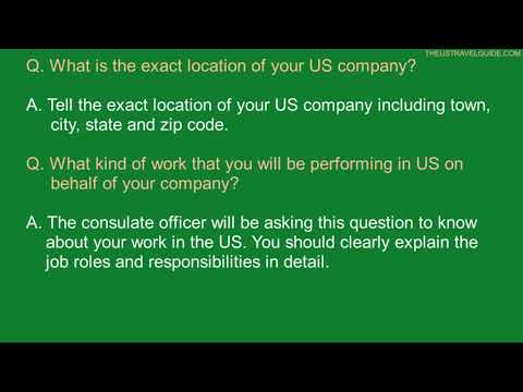 L1 Visa Interview Questions And Answers | L1A And L1B Visa Interview Questions With Answers