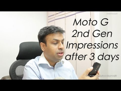 Moto G 2 Gen (2014) Impressions after 3 days of usage
