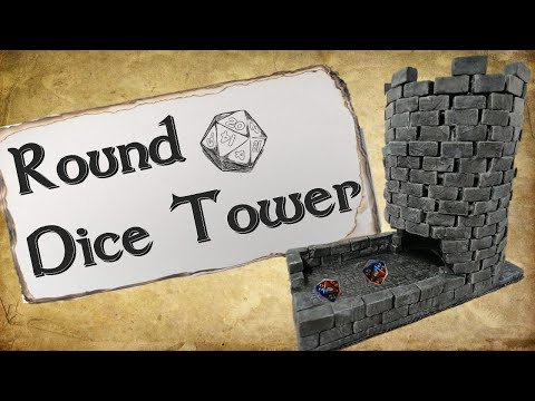 How to Make A Round Dice Tower for D&D