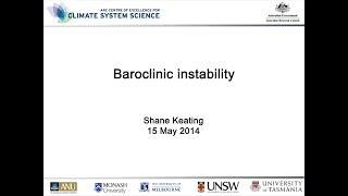Baroclinic instability (Shane Keating)