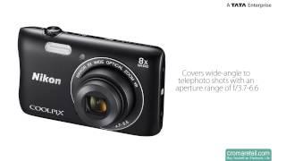 nikon COOLPIX S3700 20.1 MP Digital Camera (Black)