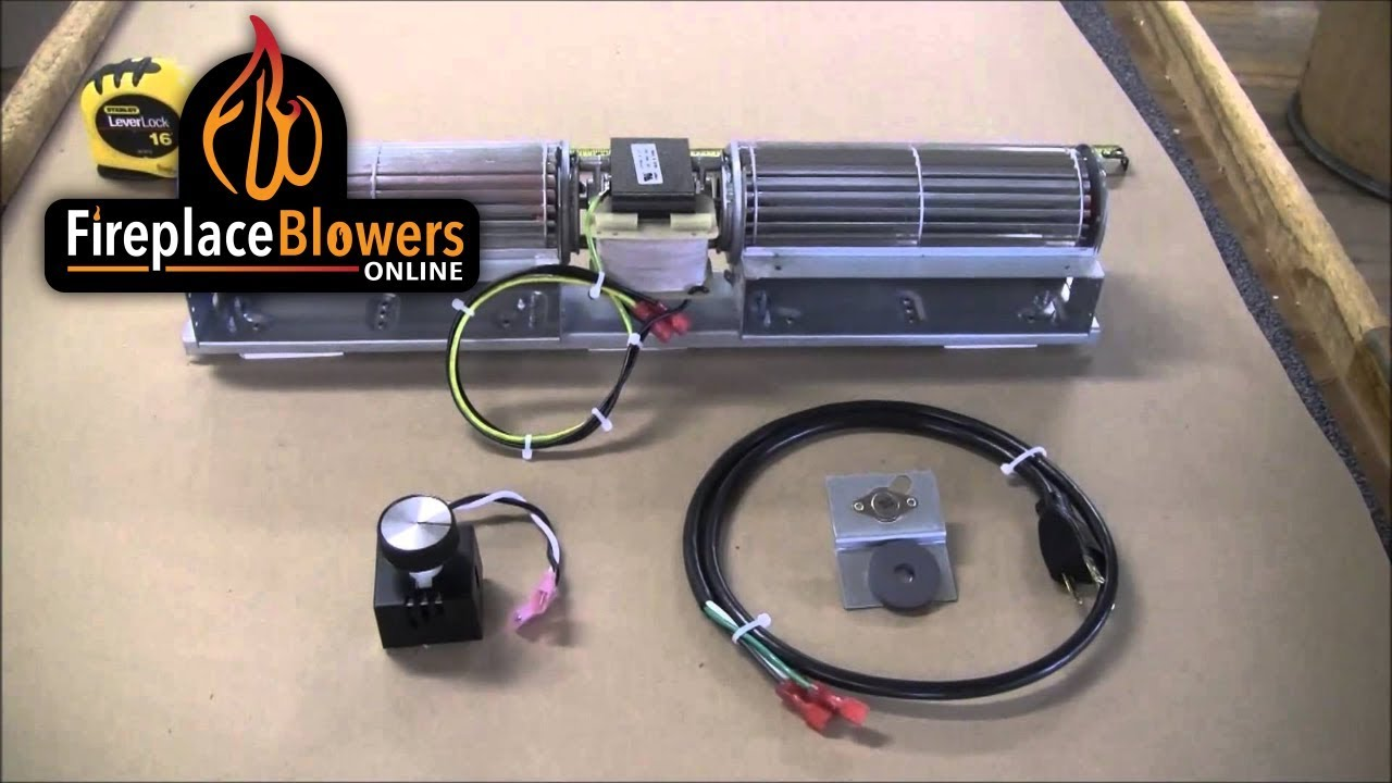 rcfk fireplace blower kit overview youtube
