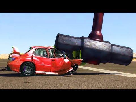 O MARTELO DESTRUIDOR de CARROS!!! - BeamNG Drive