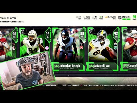 ANTONIO BROWN!! TOTW PACK OPENING | MADDEN 18 PACK OPENING!!