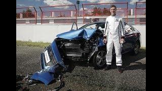 Скачать Hyundai Solaris Краш тест с участием человека сrash Test With Human Participation