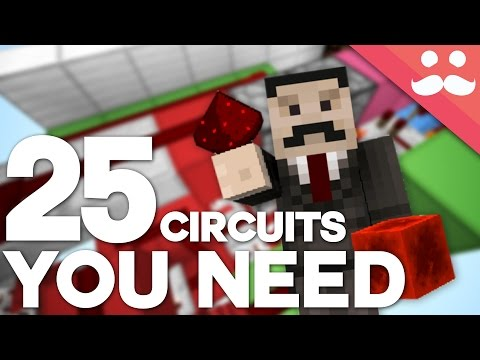 25 Minecraft Redstone Circuits YOU SHOULD KNOW!