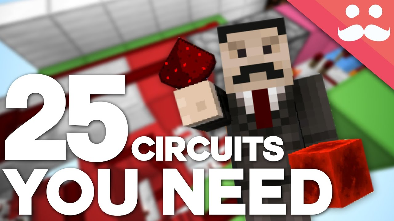25 minecraft redstone circuits you should know youtube rh youtube com Redstone Circuit Diagrams Redstone Blueprints