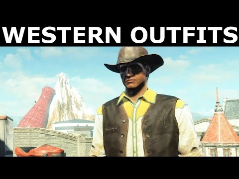 Fallout 4 Nuka World - Western Outfits & Cowboy Hats Showcase