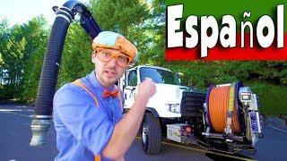 Máquinas_para_Niños_con_Blippi_Español_|Aprenda_Sobre_el_Camión_Aspirador